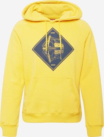 Derbe Sweatshirt 'Schipp' in Yellow