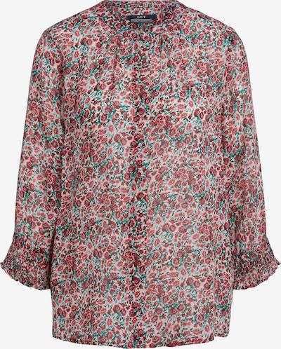 SET Bluse in dunkelgrün / dunkelrot, Produktansicht