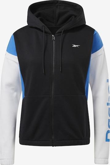 REEBOK Sportsweatshirt in blau / schwarz / weiß, Produktansicht