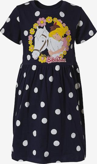 Bibi und Tina Kleid in navy / gelb / rosa / weiß, Produktansicht
