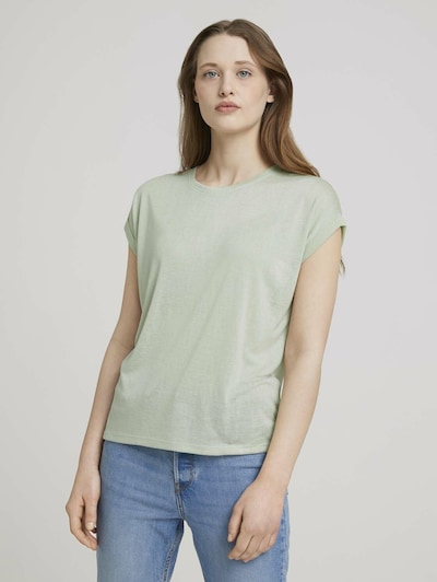 TOM TAILOR DENIM Shirt in de kleur Pastelgroen: Vooraanzicht