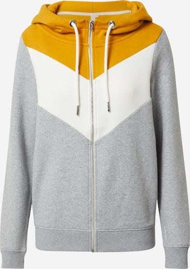 Q/S designed by Sweatjacke in gelb / graumeliert / weiß, Produktansicht