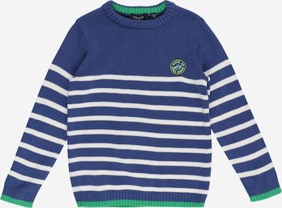 BLUE SEVEN Pullover in marine / dunkelgelb / grün / weiß, Produktansicht