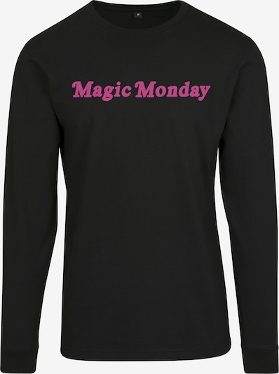 Merchcode T-shirt 'Magic Monday' en rose / noir: Vue de face