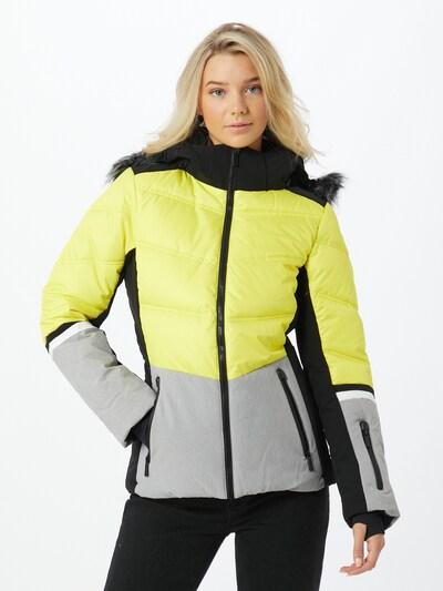 ICEPEAK Jacke 'Electra' in gelb / graumeliert / schwarz: Frontalansicht