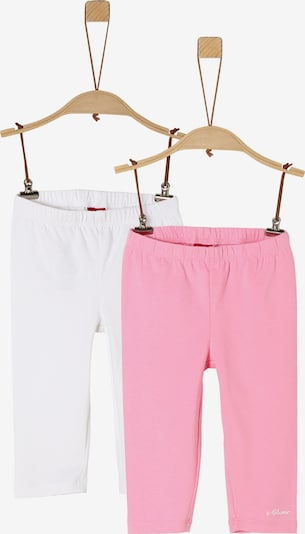 s.Oliver Leggings in pink / weiß: Frontalansicht