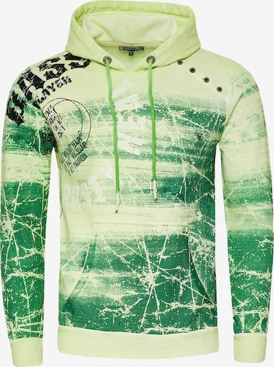 Rusty Neal Sweatshirt mit verwaschenem Front Print in grün, Produktansicht