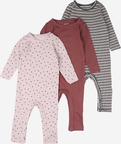 NAME IT Pijama entero/body 'RONLA' en azul oscuro / rosa claro / rojo oscuro, Vista del producto