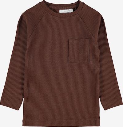 NAME IT Shirt 'Kabileon' in de kleur Chocoladebruin, Productweergave