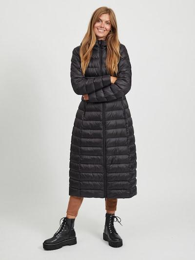 VILA Mantel 'Manya' in schwarz, Modelansicht