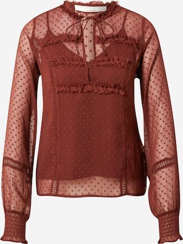 Guido Maria Kretschmer Collection Bluse 'Ginny' i brun