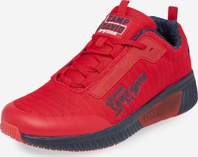 CAMP DAVID Sneaker mit Streifen-Design und Meshstruktur in rot, Produktansicht