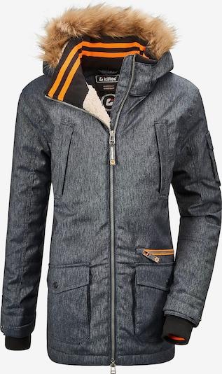 KILLTEC Parka 'BANTRY' in blue denim / orange / schwarz, Produktansicht