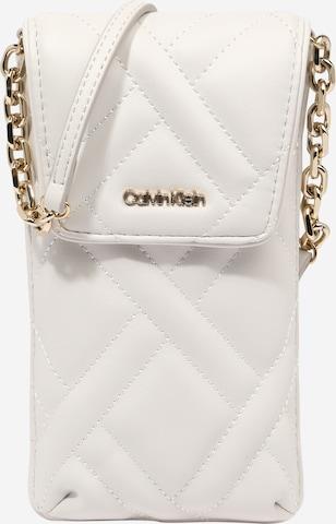 Protection pour smartphone Calvin Klein en blanc