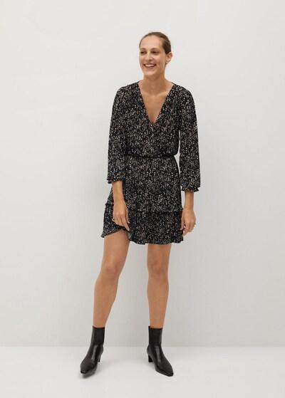 MANGO Kleid 'Moss' in creme / schwarz, Modelansicht