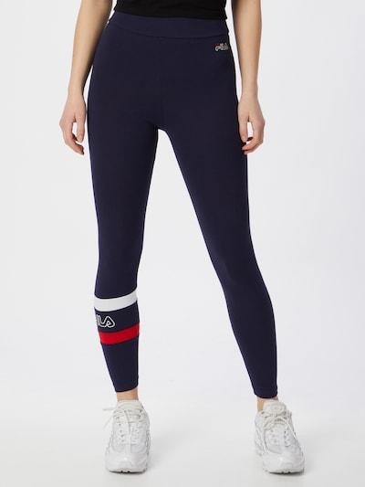 FILA Spodnie sportowe 'JACY' w kolorze ciemny niebieski / czerwony / białym: Widok z przodu