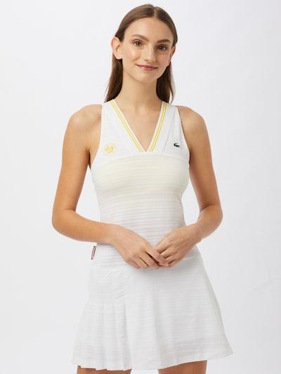 Lacoste Sport Kleid in gelb / hellgelb / weiß: Frontalansicht