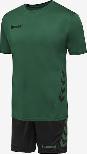 Hummel Trainingsanzug in dunkelgrün / schwarz, Produktansicht