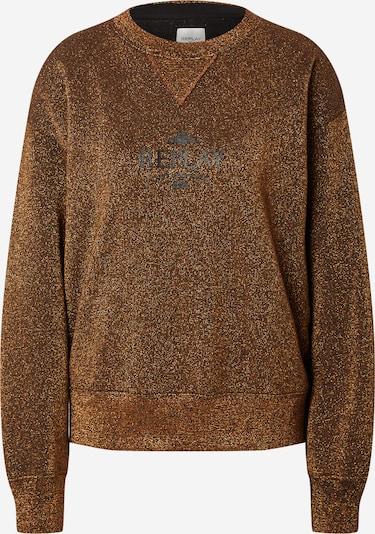 REPLAY Sweatshirt in gold / schwarz, Produktansicht