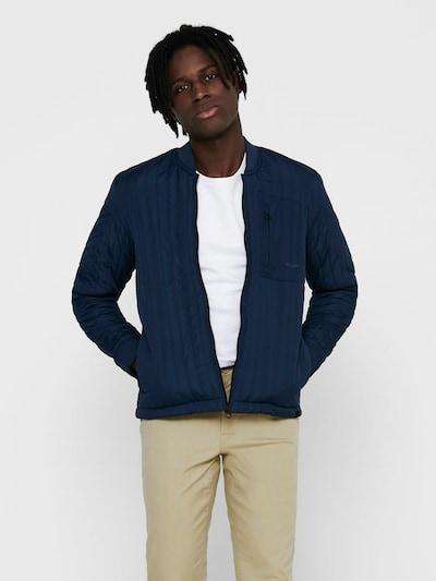Only & Sons Tussenjas in de kleur Donkerblauw: Vooraanzicht