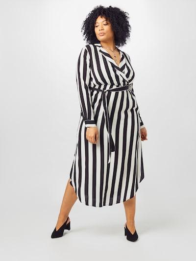 Guido Maria Kretschmer Curvy Collection Košulja haljina 'Denise' u crna / bijela, Prikaz modela