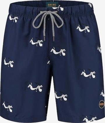 Pantaloncini da bagno 'Snoopy Superrr Doggg' di Shiwi in blu