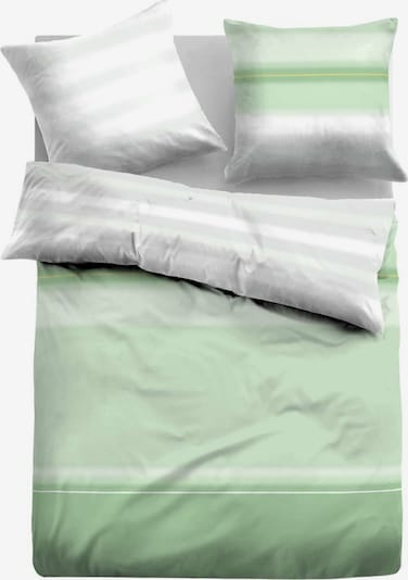 TOM TAILOR Bettwäsche in grün / weiß, Produktansicht