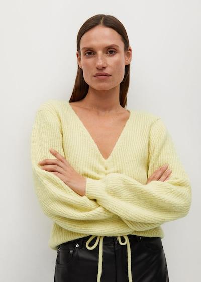 MANGO Pullover 'Frunchi' in pastellgelb, Modelansicht
