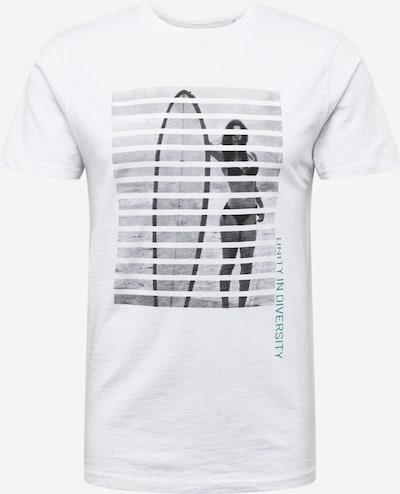 !Solid Тениска 'Robert' в сиво / петрол / черно / бяло, Преглед на продукта