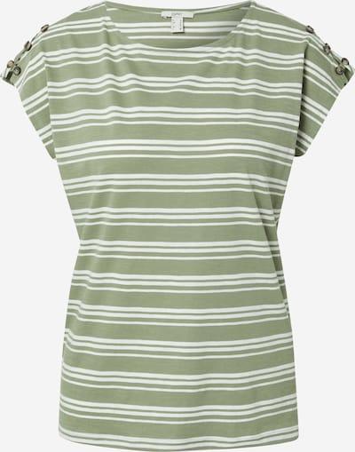 ESPRIT T-Shirt in khaki / weiß, Produktansicht