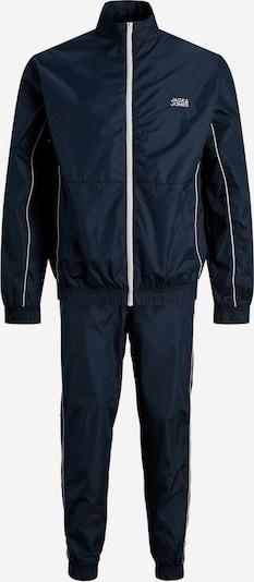 JACK & JONES Trainingsanzug in dunkelblau / weiß, Produktansicht