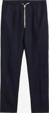 Pantaloni con piega frontale di Boggi Milano in blu