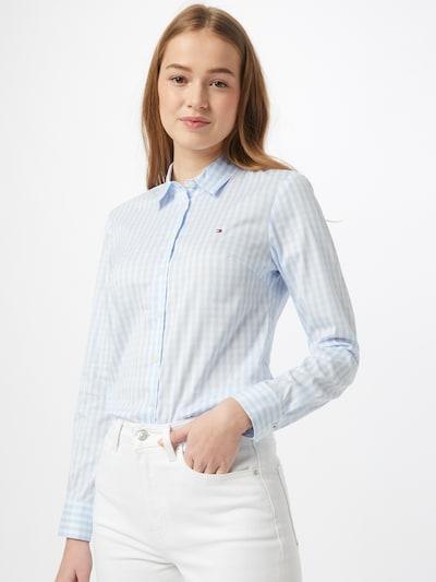 TOMMY HILFIGER Bluse in azur / weiß, Modelansicht