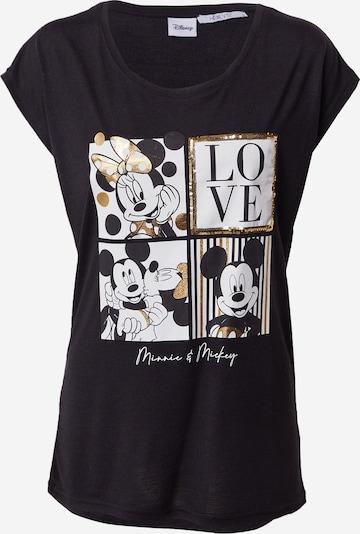 Hailys T-Shirt 'Mylie' in gold / schwarz / weiß, Produktansicht
