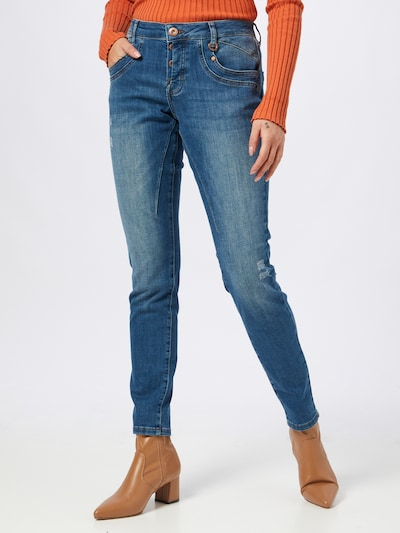 PULZ Jeans Jeans 'MARY' in blue denim, Modelansicht