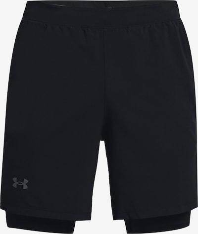 UNDER ARMOUR Sportbroek 'Launch' in de kleur Grijs / Zwart, Productweergave