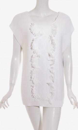 Uterqüe Kurzarmpullover in M in weiß, Produktansicht