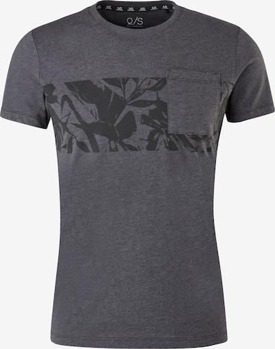 Q/S designed by Shirt in de kleur Antraciet / Zwart, Productweergave