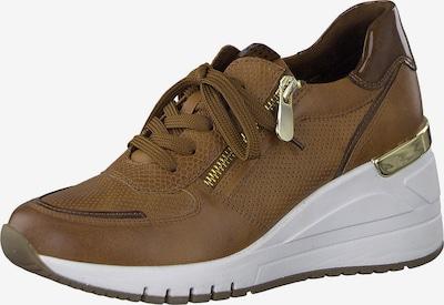 Sneaker low MARCO TOZZI pe maro / maro coniac, Vizualizare produs