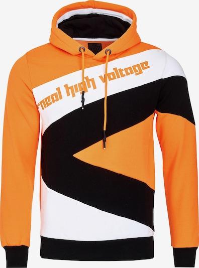 Rusty Neal Kapuzenpullover in orange / schwarz / weiß, Produktansicht