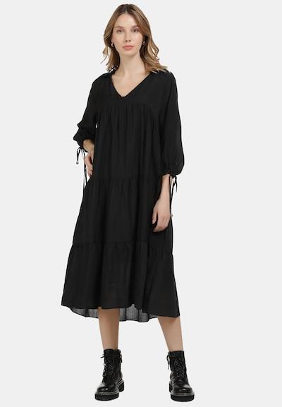 DreiMaster Vintage Volantkleid in schwarz, Modelansicht