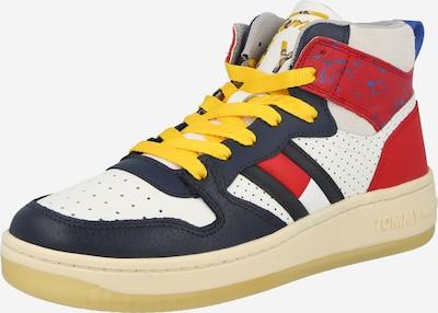 Sneaker înalt Tommy Jeans pe ecru / bleumarin / galben / roșu, Vizualizare produs