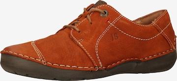 JOSEF SEIBEL Lace-Up Shoes 'Fergey' in Orange