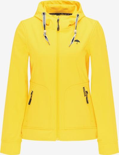 Schmuddelwedda Veste fonctionnelle en jaune fluo / noir: Vue de face