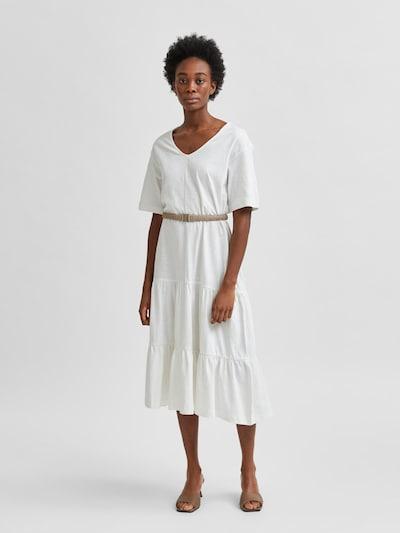 SELECTED FEMME Kleid 'Reed' in weißmeliert, Modelansicht
