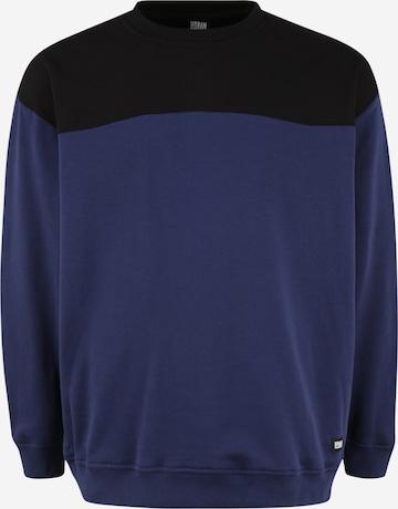 Felpa di Urban Classics Plus Size in blu