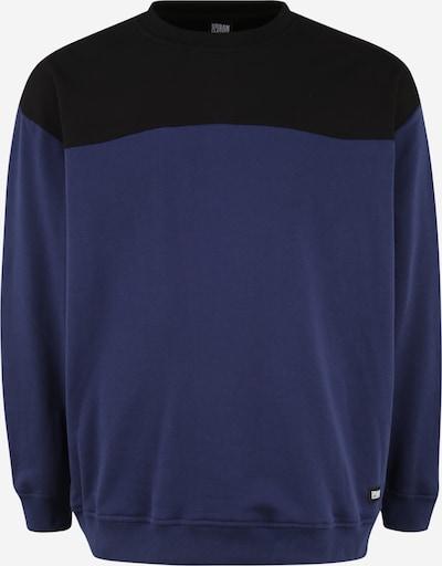Urban Classics Plus Size Mikina - tmavomodrá / čierna, Produkt