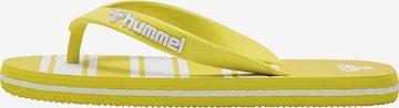 Claquettes / Tongs Hummel en jaune