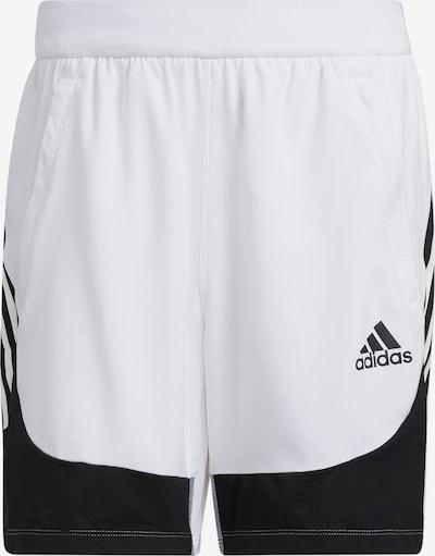 ADIDAS PERFORMANCE Pantalón deportivo en negro / blanco natural, Vista del producto