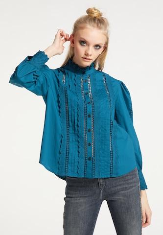myMo ROCKS Bluse in Blau